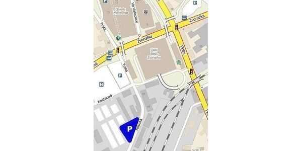 19 Kč za čtyři hodiny parkování v centru Brna u Vaňkovky v hodnotě 40 Kč