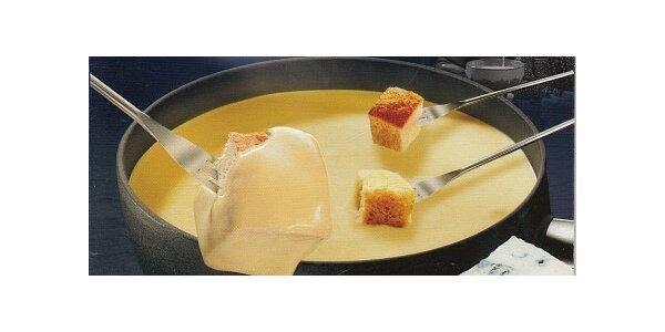 135 Kč za švýcarské sýrové fondue pro dvě osoby v původní hodnotě 270 Kč