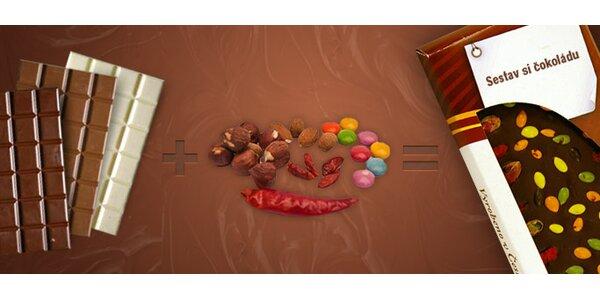 149 Kč za ručně vyráběnou čokoládu s oříšky, květy i chilli. Vtipný dárek!