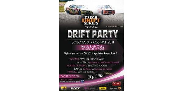 50 Kč za Drift Párty - vyhlášení mistra v driftování a poháru konstruktérů