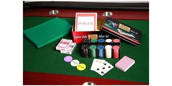 349 Kč za rodinnou sadu na poker s bohatým příslušenstvím v hodnotě 699 Kč