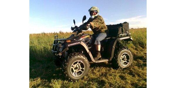 380 Kč za 1 hodina jízdy na čtyřkolce ATV 300 4x4 pro 1 os v hodnotě 760 Kč