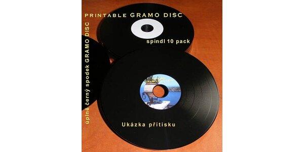 129 Kč za 10 ks jedinečných CD-R v podobě Gramodesek v hodnotě 269 Kč