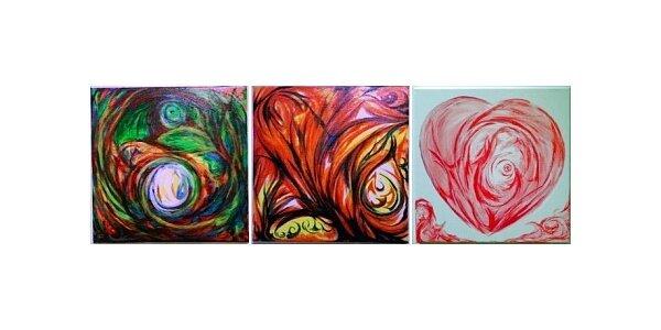 450 Kč za ručně malovaný obraz o rozměrech 20 x 20 cm v hodnotě 700 Kč