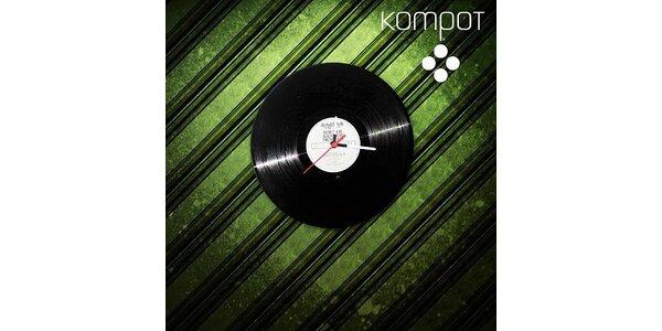 189 Kč za jedinečné Retro hodiny z pravé vinylové desky v hodnotě 400 Kč