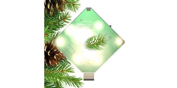 188 Kč za vánoční LED prskavku aktivovanou zvukem nebo mobilním telefonem