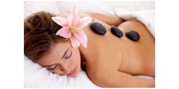 380 Kč za relaxační masáž horkými lávovými kameny v moderním salonu