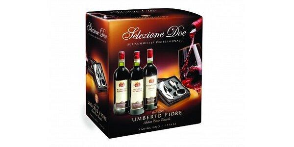 356 Kč za dárkovou kazetu Selezione DOC s výběrem vín a kazetou s vývrtkou