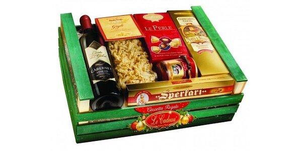 497 Kč za koš Casseta Gourmet, s výběrem tradičních italských specialit