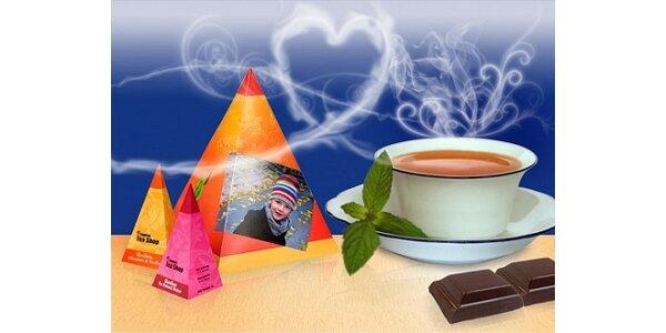 190 Kč za čaj v krabičce s Vaší fotografií a textem v hodnotě 390 Kč