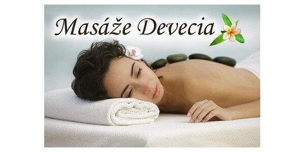 360 Kč za relaxační masáž Hot stones (lávové kameny) v hodnotě 450 Kč