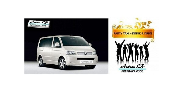 80 Kč za Party taxi + drink & drive - odvezeme Vás i s Vašim vozem
