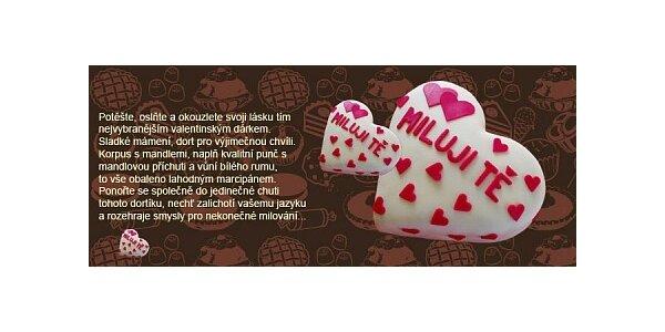325 Kč za Valentýnské překvapení - orginální dort ve tvaru srdce