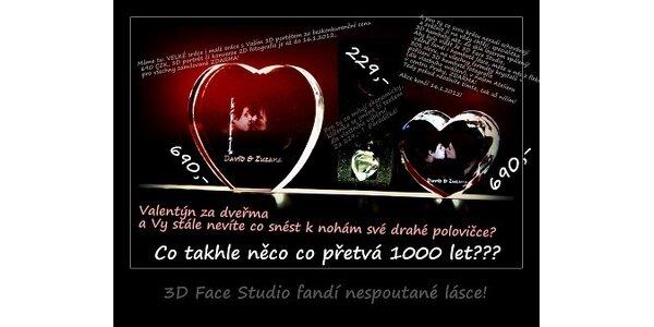 690 Kč za Valentýnské srdce z lásky s 3D fotkou v hodnotě 1490 Kč