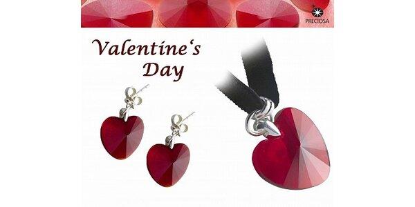 """495 Kč za elegantní set """"Valentine"""" od firmy Preciosa v hodnotě 2 140 Kč"""