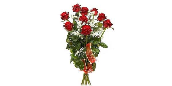 Pouhých 260 Kč za kytici růží s rozvozem v původní ceně 560 Kč