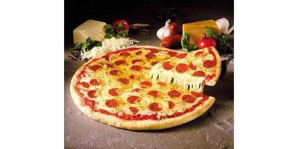 179 Kč za 2 královské pizzy a 2x horké maliny v hodnotě 360 Kč