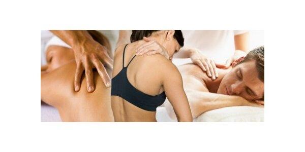 199 Kč za sportovní, rekondiční a relaxační masáž zad v hodnotě 300 Kč