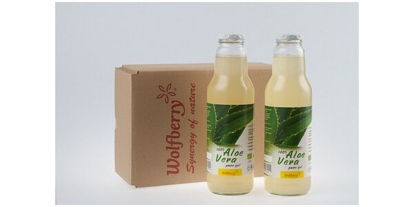 296 Kč za BIO Aloe vera gel drink 100% pure, 2x 750 ml v hodnotě 741 Kč