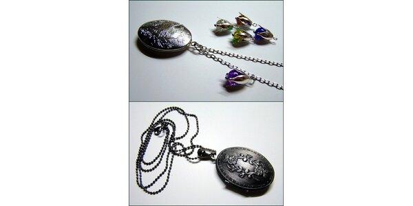 98 Kč za ANTIQUÓ - stylový otevírací medailonek - náhrdelníček