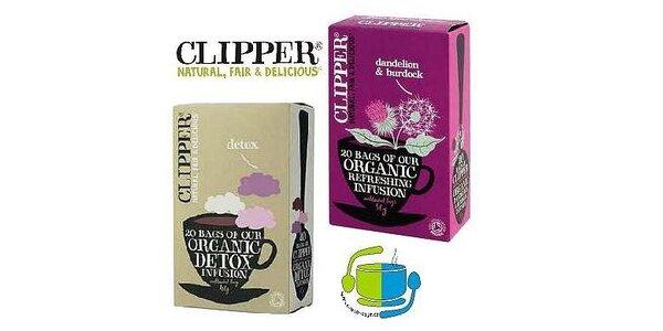 90 Kč za balíček fenomenálních anglických BIO čajů značky Clipper Teas
