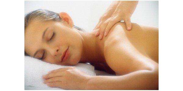 350 Kč za klasickou masáž pro záda, krk a šíji v délce 60 minut