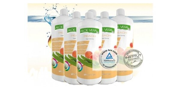 280 za 95% Aloe Vera gel s příchutí broskve v původní hodnotě 588 Kč