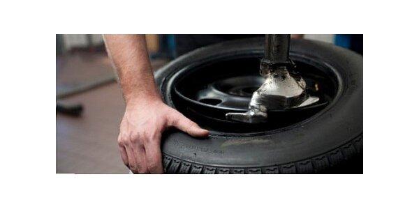 Kompletní přezutí pneumatik Vašeho vozu s prohlídkou brzd a podvozku 249 Kč