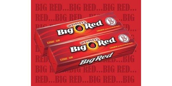 210 Kč za 10 balíčků - 50 plátků žvýkaček Big Red včetně poštovného po ČR