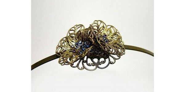 Mia - překrásná ručně zhotovená filigránová čelenka - šperk do Vašich vlasů