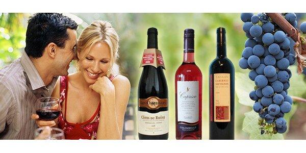 TŘI kvalitní francouzská vína