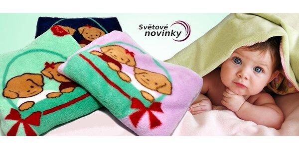 Kvalitní deka pro děti z jemného mikrovlákna s motivem pejsků