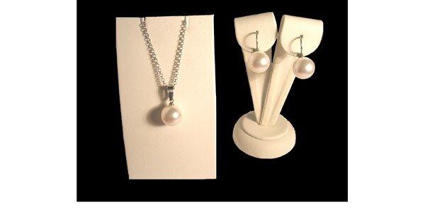 289 Kč za set Swarovski White Pearl z chirurgické oceli v hodnotě 749 Kč