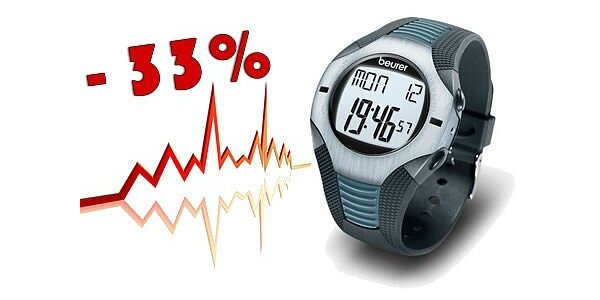 999 Kč za špičkový sporttester (pulsmetr) BEURER PM 26 v hodnotě 1499 Kč