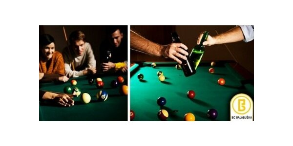 Hodina kulečníku (poolu) v klubu s legendárním jménem Balabuška