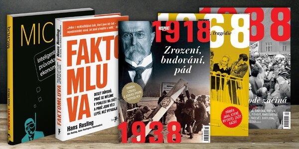Speciální vydání týdeníku Respekt i zajímavé knihy