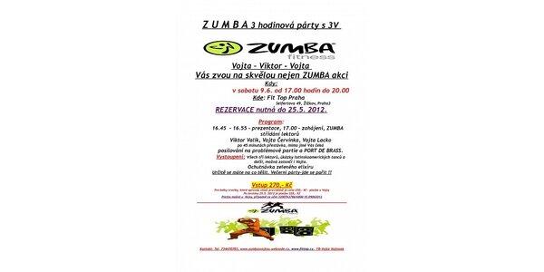 Tři hodiny Zumba party - zábavné cvičení s 30% slevou