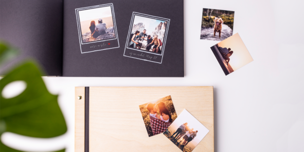 Dřevěné fotoalbum ruční výroby s washi páskou
