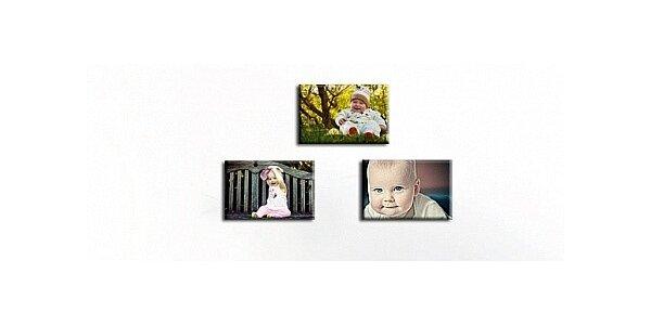 Tři obrazy z vlastních fotografii 35x50 cm v hodnotě 1728 Kč