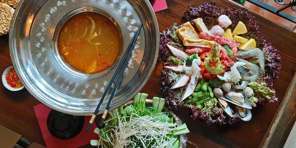 Asijský hotpot až pro 8 os.: vaříte přímo na stole