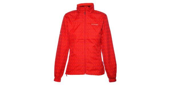 Dámská sytě červená kostičkovaná bunda Envy