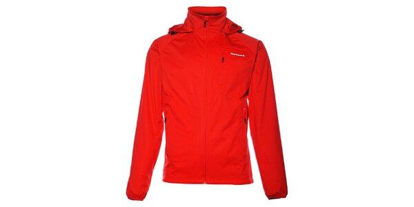 Pánská sytě červená softshellová bunda Envy