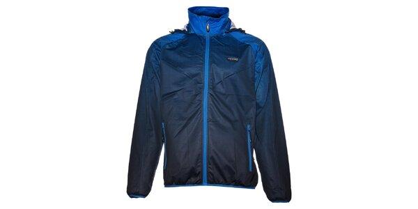 Pánská tmavě modrá softshellová bunda Envy s potiskem