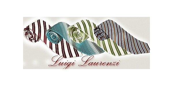 245 Kč za slevový kupon na hedvábnou kravatu Luigi Laurenzi v ceně 490 Kč