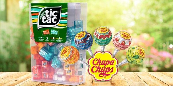Obří balení Tic Tac a 100 lízatek Chupa Chups