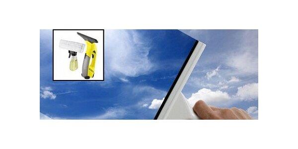 Mytí oken s použitím okenní stěrky KÄRCHER