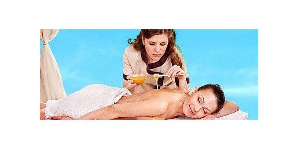 Luxusní medová detoxikační masáž se zábalem