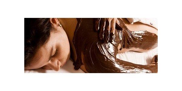 Čokoládová masáž zad a šíje včetně zábalu
