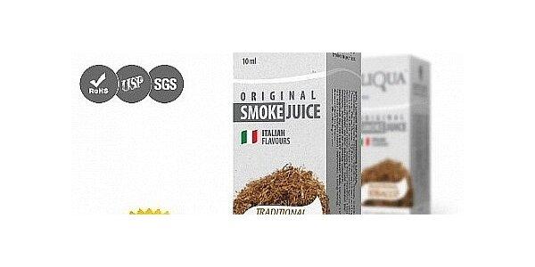 Karton (10x10 ml) e-liquidů - tradiční tabák oblíbené italské značky Liqua