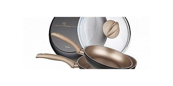 Sada luxusního nádobí Aston Champagne series - pánev 20, 24 a 28cm